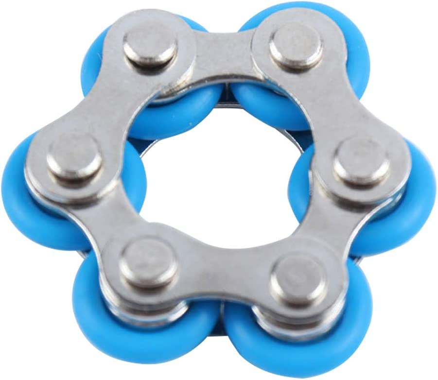LUNAH Cha/îne /à Rouleaux Fidget Toy Office School Work ADHD Anxiety Finger Autism Rotated Roller Chain Mini Fidget Toy Stress Reducer for Anxiety in Classroom