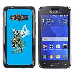 TopCaseStore / la caja del caucho duro de la cubierta de protección de la piel - Abstract Cloud Art - Samsung Galaxy Ace 4 G313 SM-G313F