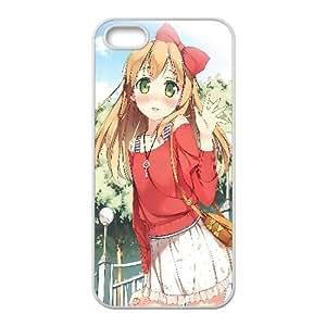 Azusa Azuki Anime iPhone5s Cell Phone Case White 218y-697661