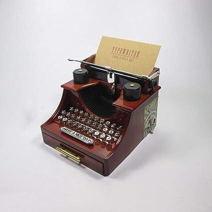 DSDVAS Music Box Máquina De Escribir Caja De Música con El Cajón Artículos De Decoración De