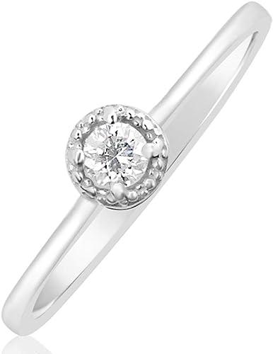 bague de fiancaille femme diamant or blanc