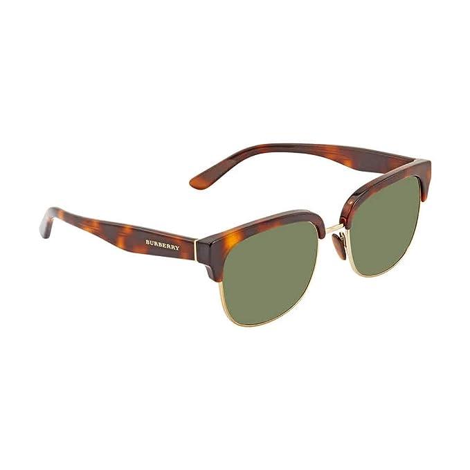 Burberry Gafas de Sol BE 4272 HAVANA/GREEN hombre: Amazon.es ...