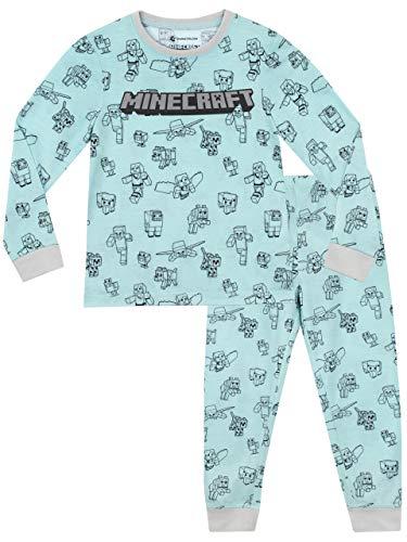 Minecraft Girls' Steve Pajamas Size 10 Blue -
