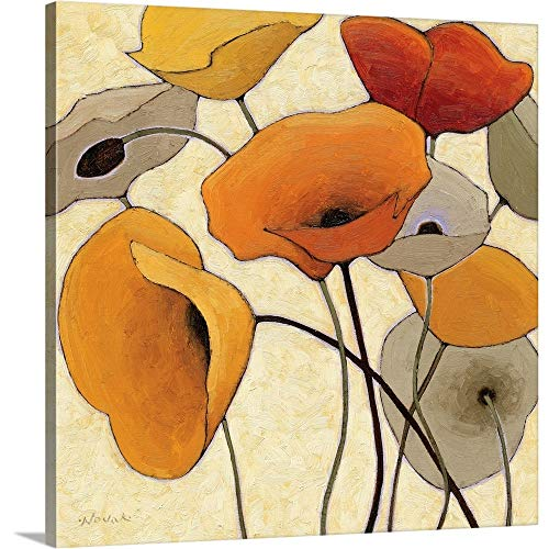 Pumpkin Poppies III Canvas Wall Art Print, 16