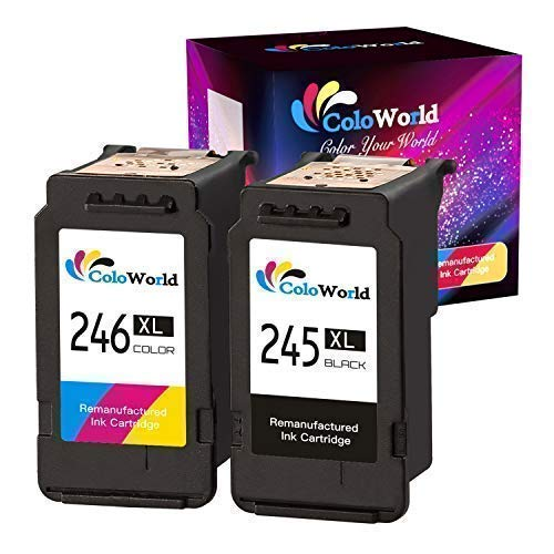 ColoWorld Remanufactured Ink Cartridge Replacement for PG245XL CL246XL PG-243 CL-244 XL Black and Color Ink Cartridge Combo Pack High Yield Use with PIXMA iP2820 MG2420 MG2520 PIXMA MG2920 MG2922 -  BLJ-Store, CW-245XL 246XL