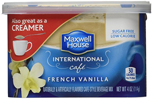 Maxwell House International Cafe Instant French Vanilla Coffee (4 oz Canisters, Pack of 6)