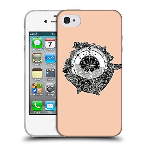 GoGoMobile Coque de Protection TPU Silicone Case pour // Q07630604 Boussole antique 1 Abricot // Apple iPhone 4 4S 4G
