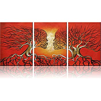 Red Trees Wall Art Modern Abstract Framed Giclee Canvas Prints Small Red Wall  Art Office Artwork Tree Paintings Abstract Wall Art Paintings For Living  Room ...