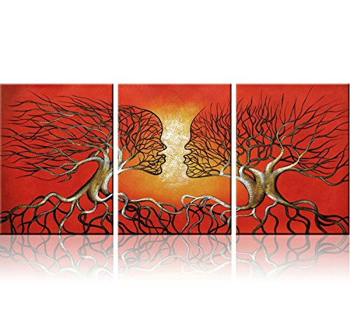 Red Trees Wall Art Modern Abstract Framed Giclee Canvas Prints Small Red Wall Art Office Artwork Tree Paintings Abstract Wall Art Paintings for Living Room Home Decor, Ready to Hang - Day Date Ideas