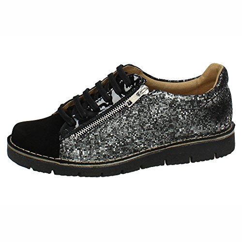 Cordón Spain Made In Zapatos Mujer Zapato Blucher Piel Negro 21668 5H8SwHq