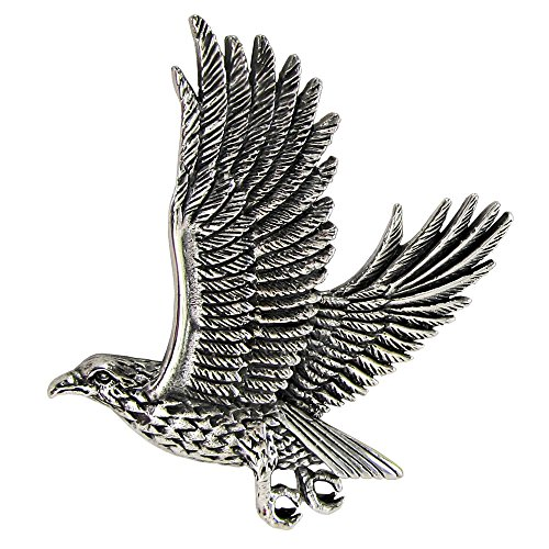 Sterling Silver Flying Falcon Hawk Pendant