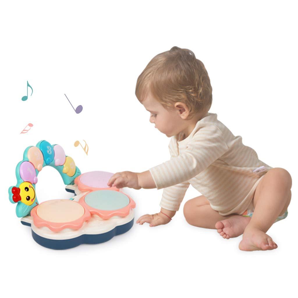 LIPENG-TOY Baby-Handtrommeln Kinder Sound und Licht Spielzeug Puzzle Baby Pat Trommel 0-1 Jahre 6-12 Monate (Farbe : Bunte)