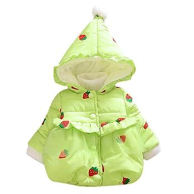 c6f994aa8 Amazon.com  FIged Cute Strawberry Printed Winter Padded Girls Thick ...