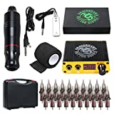 Dragonhawk Cartridge Tattoo Machine Kit Pen Rotary Tattoo Machine Cartridge Needles Power Supply for Tattoo Artists 1013-7 (Atom)