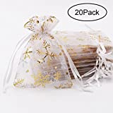 SumDirect 20Pcs Sheer Drawstring Organza Jewelry Pouches Wedding - Best Reviews Guide
