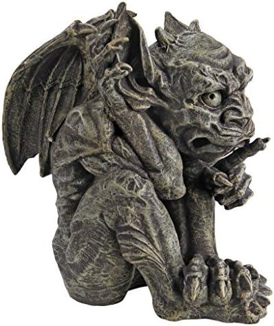 Design Toscano CL3693 Whisper The Gothic Gargoyle Statue,Greystone