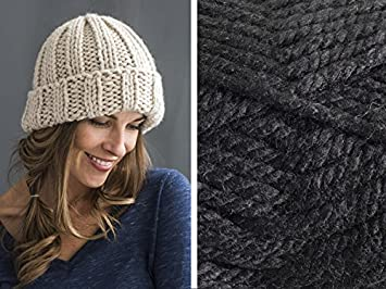 5c211d9a35b Craftsy Sprightly Quick and Easy Rib Hat Knitting Kit (Black ...