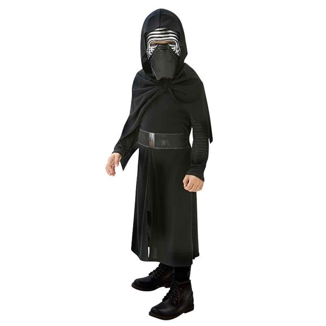 NET TOYS Disfraz Kylo REN niño Traje Infantil Start Wars M 128 cm años 5 - 7 Atuendo Carnaval Jedi Oscuro Ropa Sith niños Túnica Starwars con máscara ...