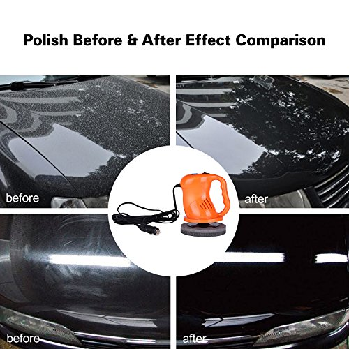 AUTOPDR Car Polishers and Buffers 12V 40W Car Waxing Waxer/Polisher Machine Car Gloss For Car Paint Vehienlar Electric by AUTOPDR (Image #1)