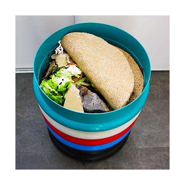 Canapvre - Materasso/Materasso per lombricompostore Rotondo (5) 3 spesavip