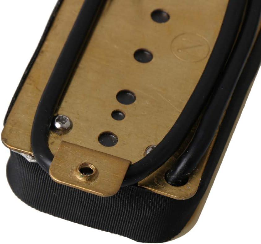 Yibuy Electric Guitar Dual Rail Humbucker Pickup Set Neck /& Bridge H11-1V-CR