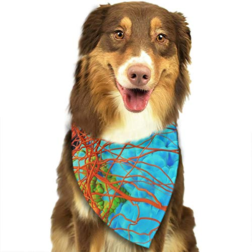 YanHill Cell Microorganism Inflammation Pet Bandana Triangle Dog Cat Neckerchief Bibs Scarfs Accessories for Pet Cats and Baby Puppies