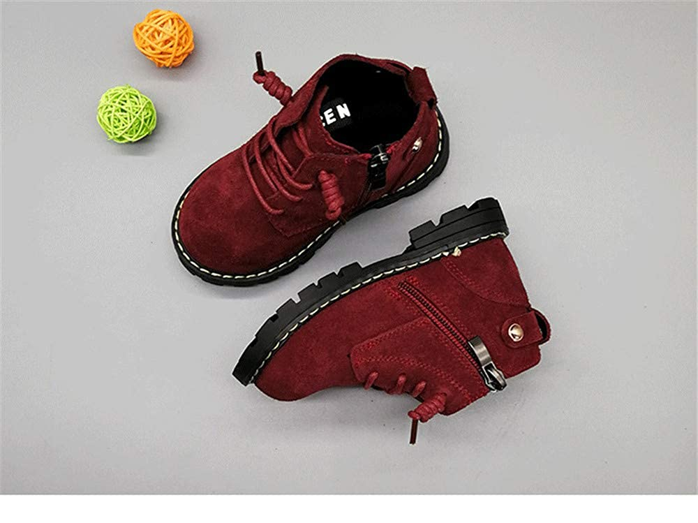 CHENSF Baby Autumn Martin Boots Fashion Suede Leather Lace-up Boots Soft Flat Ankle