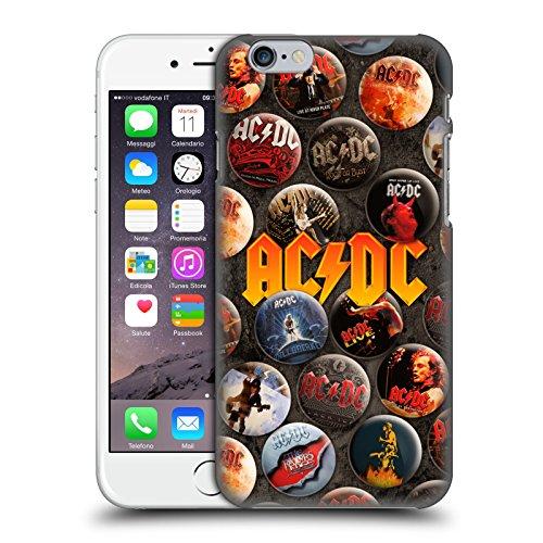 Officiel AC/DC ACDC Logo Épingles De Bouton Étui Coque D'Arrière Rigide Pour Apple iPhone 6 / 6s