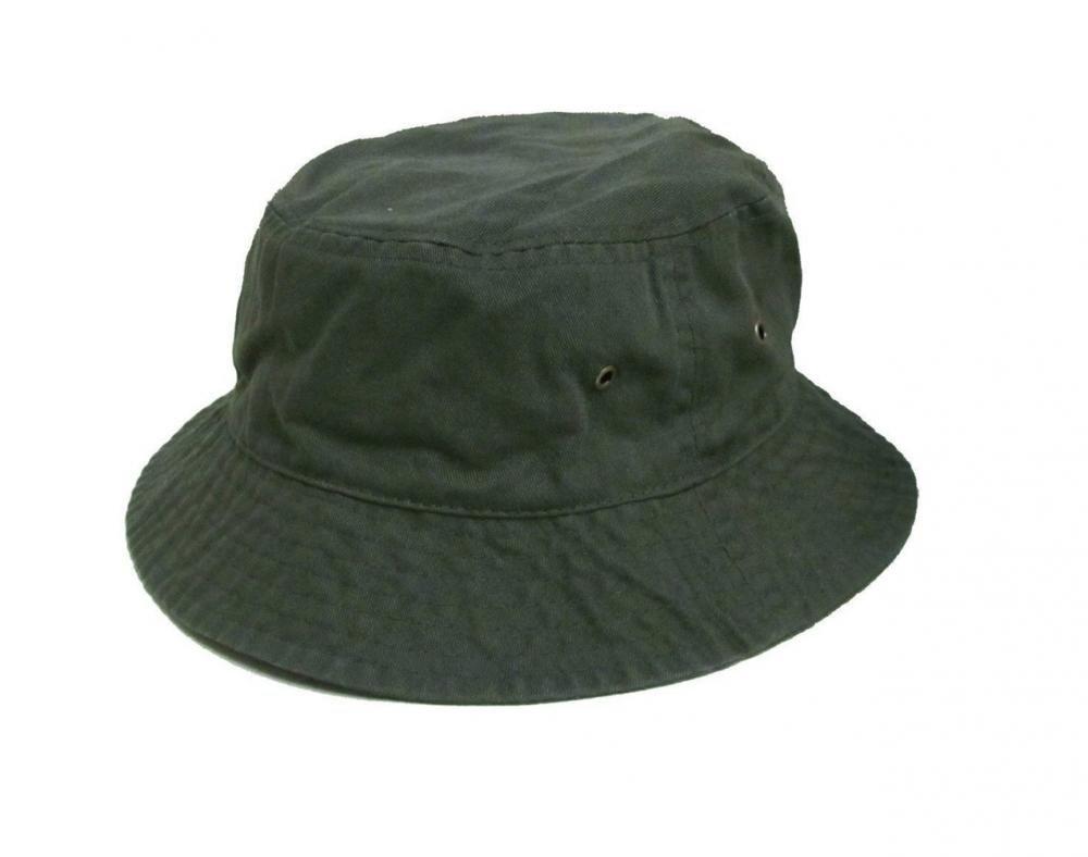 Easy-W Olive Green 100% Cotton Hat Cap Bucket Boonie Unisex