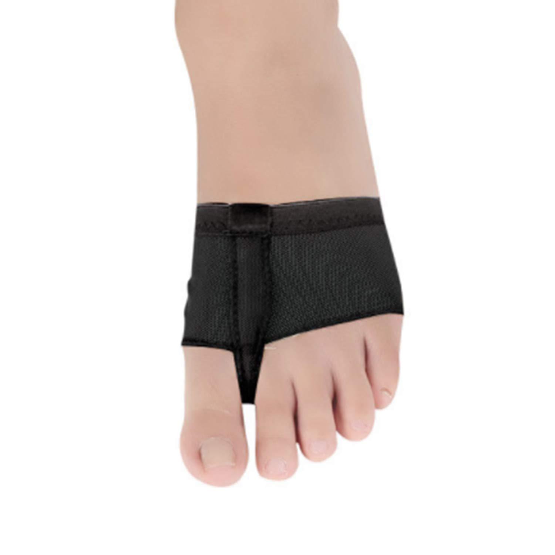 FairytaleMM Ensemble de cuissards de paume /à lavant-pied Ballet Paws Dance Foot Thongs Toe Undies Foot Black Chaussures lyriques qui ne glisse pas Noir S