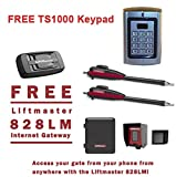 Liftmaster LA400PKGU Dual Swing Gate Opener Kit - Free Liftmaster 828LM Internet Gateway & FREE TS1000 Keypad Reader!