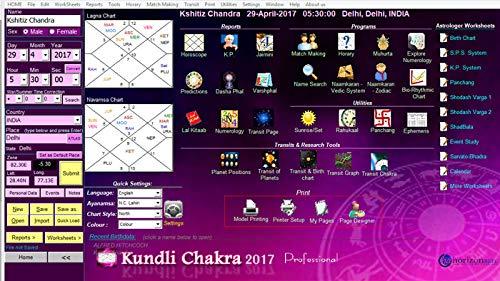 Kundli Chakra 2017 - Professional Edition in HINDI & ENGLISH Lang   (Original CD / Software Provider)