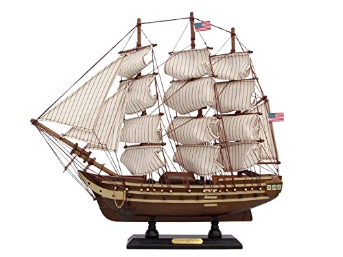 Ships Chandlery Wooden USS Constitution Tall Model Ship 15 inches