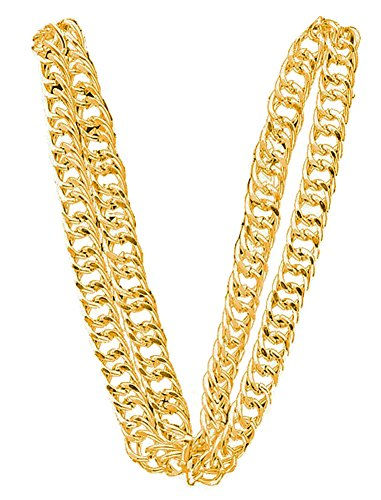 80'S Big Links Neck Chain Gold (Vanilla Ice Wig)