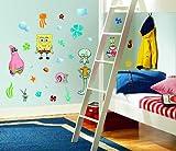 RoomMates RMK1380SCS SpongeBob Squarepants Peel & Stick Wall Decals