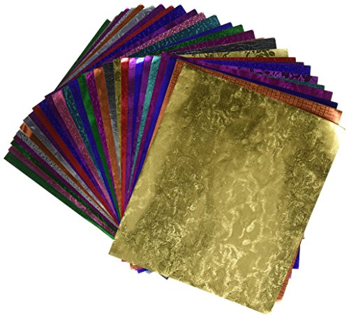 hygloss-26430-embossed-metallic-foil-paper-9-x-10-size-30-sheets-assorted-color-02-height-85-width-1
