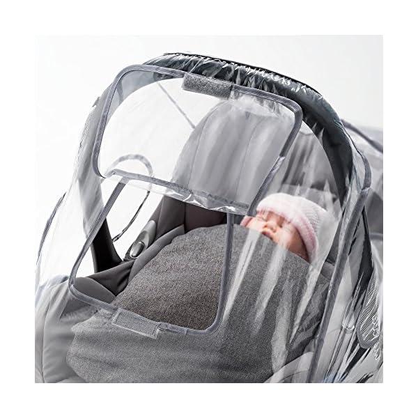 Parapioggia universale comfort per ovetto e seggiolino auto (p. es. Inglesina, Bébé Confort) - buona circolazione dell… 3