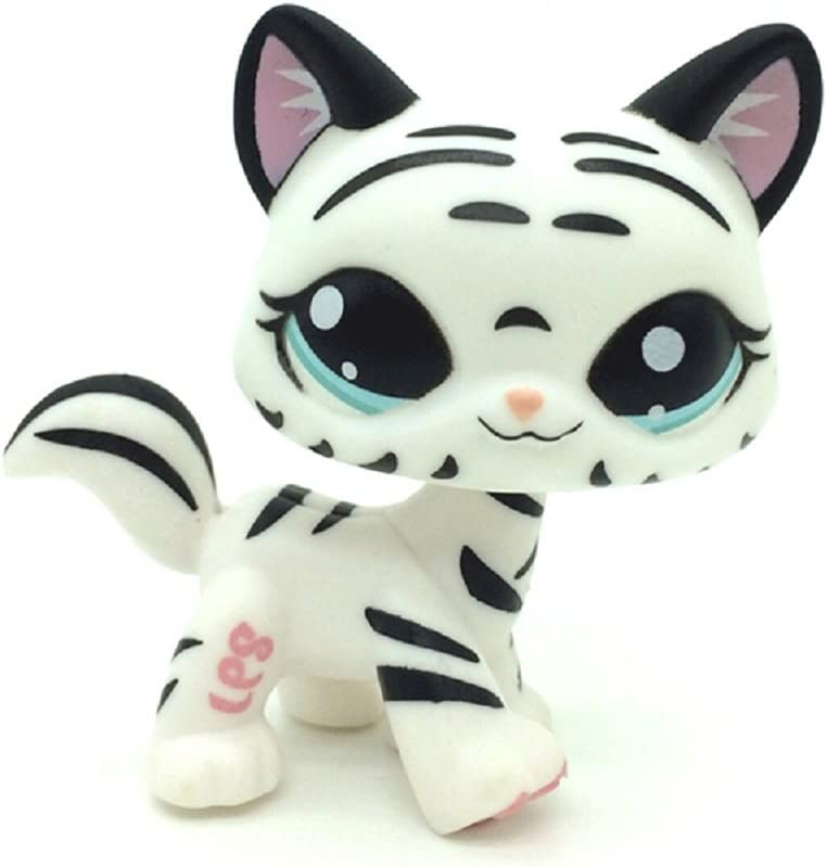 Hasbro Littlest Pet Shop Collection LPS Short Hair Standing Cat Tiger Striped