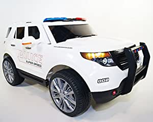 Ford Explorer in a police-style with built-in MP3 player, electric cars for children