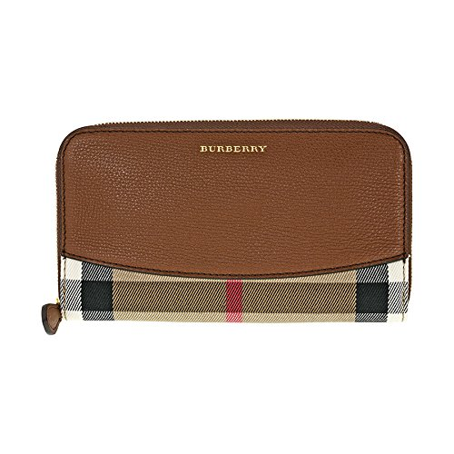 Burberry House Check Sartorial Leather Wallet - Brown Ochre by BURBERRY
