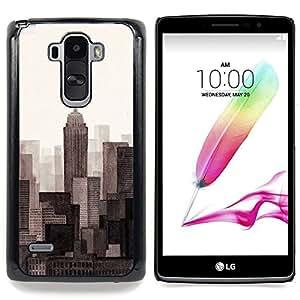 For LG G4 Stylus H631 MS631 H635 H540 H630D H542 , Rasquetas de Big City View Horizonte - Diseño Patrón Teléfono Caso Cubierta Case Bumper Duro Protección Case Cover Funda