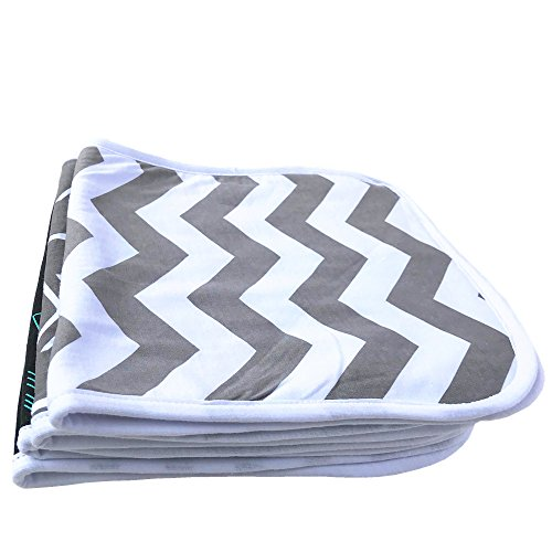 "Burp Cloths 20"" by 10"" 2 Layers Cotton Plus 1 Layer Absorbent fleece Grey Wave Black Stripes Arrows 4 Pack by Arnzion (Image #2)"