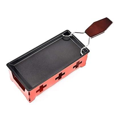 Milopon Raclette Queso Molde Mini Rojo Aster Non de Stick Bandeja Horno Set, Home Cocina