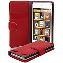 Cadorabo - Book Style Wallet Design for Apple iPod TOUCH 5 with 2 Card Slots and Money Pouch - Etui Case Cover Protection in CANDY-APPLE-RED