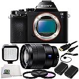 Sony Alpha a7S Mirrorless Digital Camera + Sony Vario-Tessar T* FE 24-70mm f/4 ZA OSS Lens + 9 Piece Essentials Bundle Kit - International Version