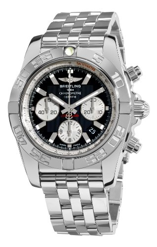 Breitling Men's AB011012/B967 Chronomat B01 Black Chronograph Dial Watch ()