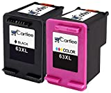Desk Printer - Cartlee 2 Remanufactured 63XL 63 XL High Yield Ink Cartridges For Envy 4512 4520 DeskJet 3632 2130 1110 1111 1112 2132 3630 3634 3637 3636 OfficeJet 3830 3833 4650 4655 4652 Printer (Black and Color)