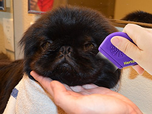 Hertzko Flea Comb By Closely Spaced Metal Pins Removes Fleas, Flea Eggs, And Debris From Your Pet's Coat - 10mm Metal Teeth Are Great For Short Hair Areas - Suitable For Dogs And Cats! by Hertzko (Image #4)