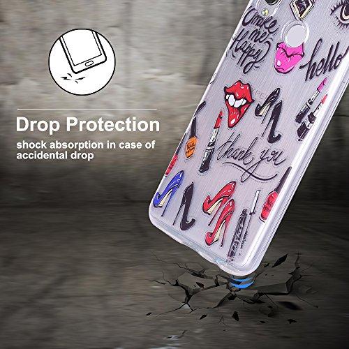 Funda Huawei P20 Lite, CaseLover Suave Transparente TPU Silicona Carcasa para Huawei P20 Lite Ultra Delgado Flexible Goma Gel Protectiva Caso Anti Rasguños Cubierta Anti Choque Caja Case Cover - Unico Tacones altos