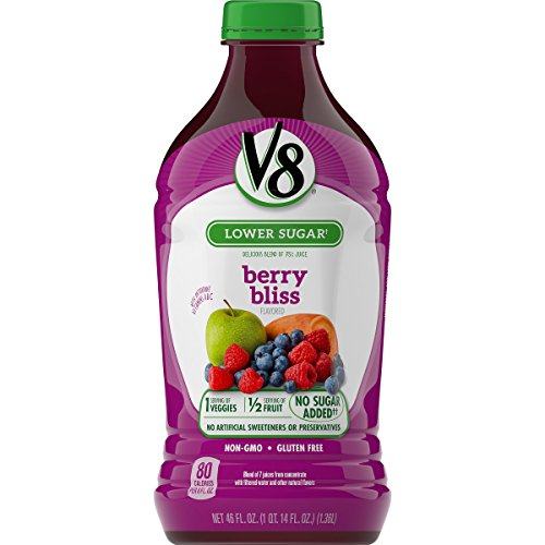 V8 Veggie Blend, Berry Bliss, 46 Ounce (Pack of 6)